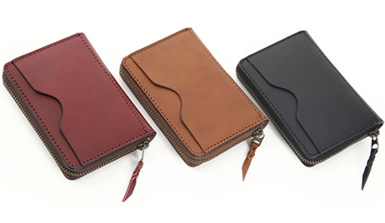 ビゾンテレザーカードポケット付きコインケース
