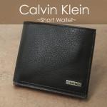 【Calvin Klein】カーフレザー 短財布