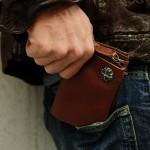 【Black Riri】イタリアンレザー 2WAY 二つ折り財布